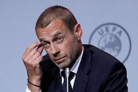 Uefan puheenjohtajalla Aleksander Ceferinillä riittää mietittävää.