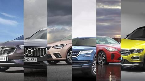 Vuoden auton tittelistä kilpailee kuusi autoa.