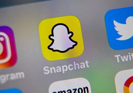 Snapchat-applikaation logo tabletin näytöllä.