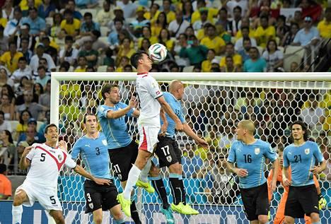 Costa Rica kohtasi Uruguayn Castelaon stadionilla Fortalezassa.