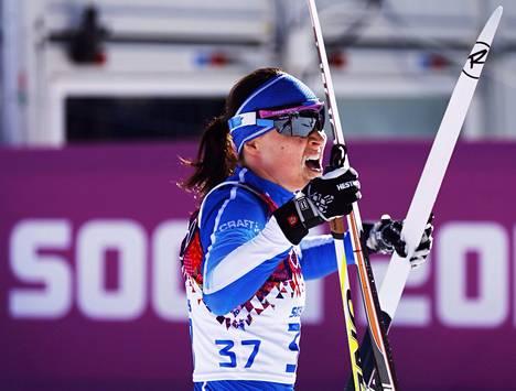 Aino-Kaisa Saarinen hiihti erinomaisesti viime talvena Sotšin olympialaduilla.