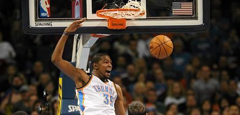 Oklahoman Kevin Durant on ollut tällä kaudella pitelemätön korintekijä.