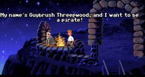 Kuvakaappaus pelistä Secret of Monkey Island (Lucasarts, 1991).