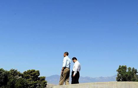 Obama ja Xi tapasivat Annenbergin säätiön vetäytymispaikassa Kaliforniassa. Samoilla tiluksilla ovat viihtyneet niin Frank Sinatra kuin Richard Nixonkin.