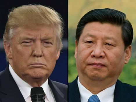 Yhdysvaltain presidentti Donald Trump ja Kiinan kommunistisen puolueen pääsihteeri Xi Jinping.