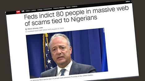Muun muassa CNN kertoi nigerilaishuijauksista sivuillaan.