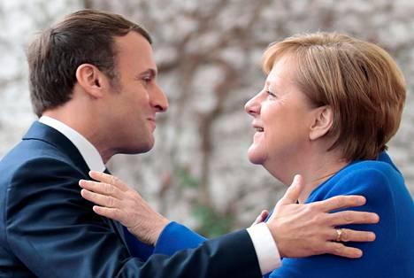 Saksan liittokansleri Angela Merkel toivotti Ranskan presidentin Emmanuel Macronin tammikuussa tervetulleeksi Berliiniin.