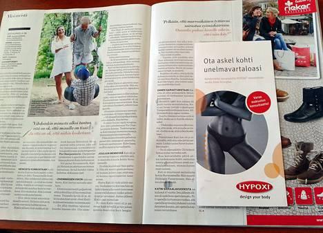 Laihdutusohjelmaa mainostettiin Anna-lehden anoreksia-artikkelin yhteydessä.
