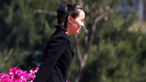 Kim Yo-jong kuvattuna Pohjois-Koreassa vuosi sitten.