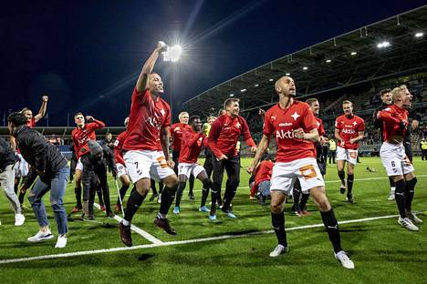 HIFK juhli voittoa HJK:sta Töölön jalkapalloareenalla 10. syyskuuta pelatussa ottelussa.