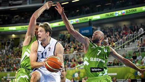 Petteri Koponen pelasi erinomaisesti Sloveniaa vastaan EM-koripallossa.