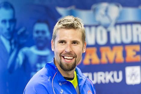 Keihäänheiton Euroopan mestari Antti Ruuskanen Turussa 27. toukokuuta.