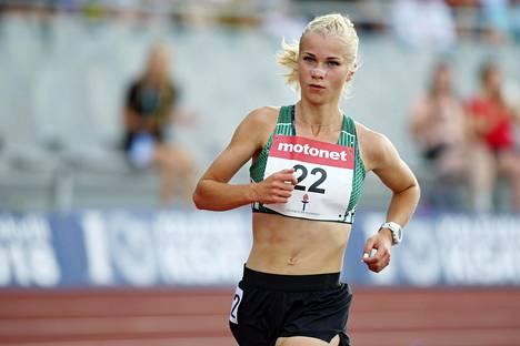 Alisa Vainio ei lähde nuorten EM-kisoihin. Kuva heinäkuulta 2018.