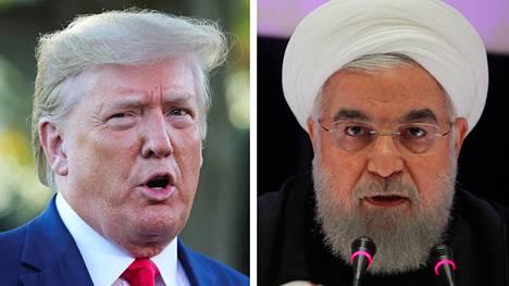 Yhdysvaltain presidentti Donald Trump ja Iranin presidentti Hassan Ruhani.