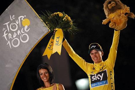 Britti Chris Froome voitti Ranskan ympäriajon.