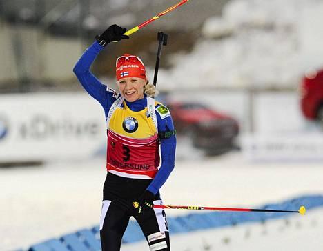 Kaisa Mäkäräinen ansaitsi 27 000 euroa palkintorahaa Östersundissa voitettuaan kerran ja sijoituttuaan kerran toiseksi ja kerran kolmanneksi.