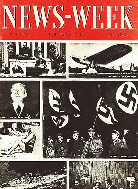 News-Weekin ensimmäinen numero vuonna 1933 tarkasteli esimerkiksi Hitleriä ja Stalinia.