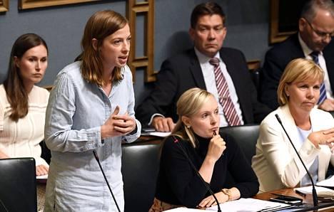 Opetusministeri Li Andersson vastausvuorossa eduskunnan suullisella kyselytunnilla 5. syyskuuta 2019.