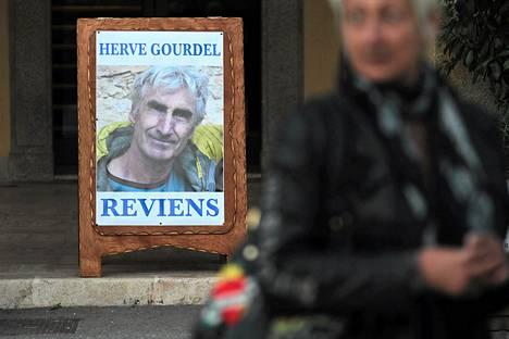 Herve Gourdelin vapauttamista vaadittiin vielä keskiviikkona Saint-Martin-Vesubiessä Ranskassa.