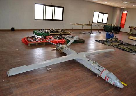 Huthien UAV-X-lennokin siipien kärkiväli on 4,5 metriä.
