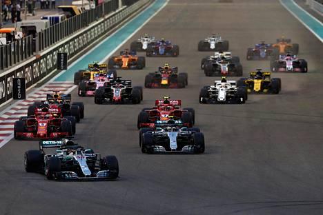 F1-osakilpailu ajettiin 25. marraskuuta 2018 Abu Dhabissa.