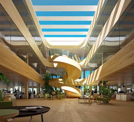 """Varman kiinteistöistä vastaavan sijoitusjohtajan Ilkka Tomperin mielestä Springin arkkitehtuuri on """"miellyttävällä tavalla tutun oloista ja muodoiltaan pohjoisen modernin rakennustaiteen perintöä henkivää""""."""