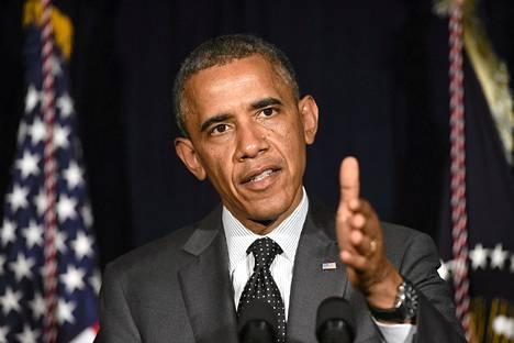 Yhdysvaltain presidentti Barack Obama kommentoi maan siirtolaistilannetta matkallaan Texasissa.