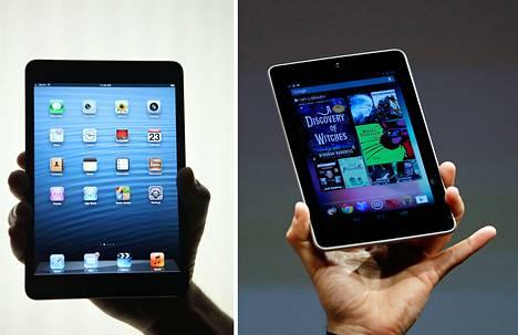 IPad Mini (vas.) ja Nexus 7