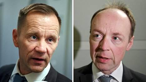 Mika Niikko (vas.) ja Jussi Halla-aho