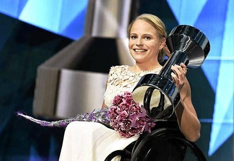 Amanda Kotaja Suomen Urheilugaalassa.
