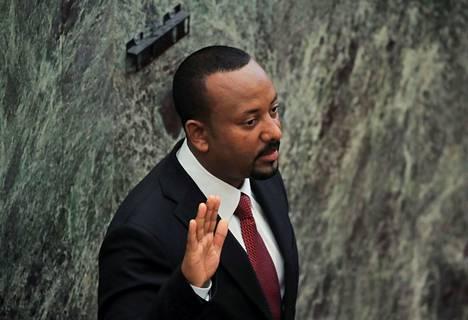 Pääministeri Abiy Ahmed vannoi virkavalan viime maanantaina Etiopian parlamentissa Addis Abebassa. Vuonna 2018 valtaan noussut Abiy johtaa Etiopiaa nyt toista kauttaan.
