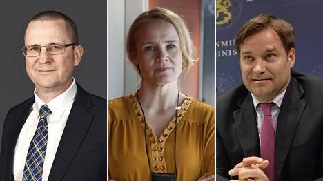 Harri Sarvanto (vas.), Jonna Turunen ja Teemu Turunen.