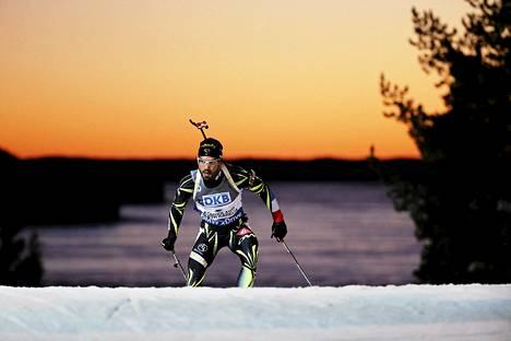 Simon Fourcade oli viime talvena Kontiolahden MM-kisojen 20 kilometrillä neljäs.