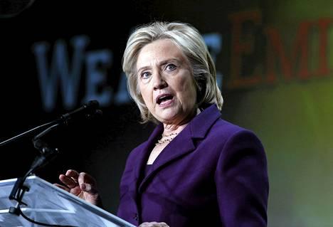 Entinen ulkoministeri Hillary Clinton kuvattuna maaliskuun alussa.