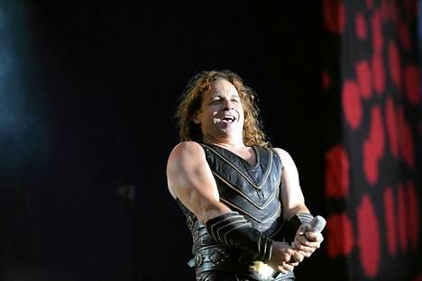 Manowar esiintyi Seinäjoella kesäkuussa 2009. Kuvassa laulaja Eric Adams. Lauantain konsertissa ei saanut kuvata.