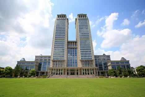 Fudanin yliopiston rakennuksia Shanghaissa. Kuva vuodelta 2018.