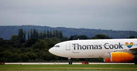 Yhtiön Airbus A330-200 -lentokone Manchesterin lentokentällä 4. syyskuuta 2018.