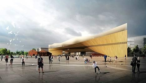 Helsingin keskustakirjaston arvioidaan maksavan vähintään 90–95 miljoonaa euroa.