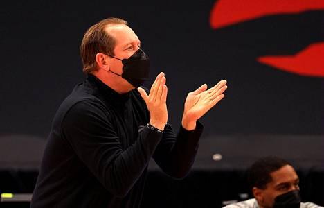 Toronto Raptorsin päävalmentaja Nick Nurse jakoi kannustuksia vielä viikko sitten Philadelphiaa vastaan.