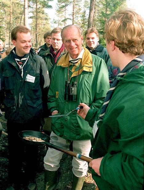 Prinssi Philip oli samalla Suomen-vierailullaan Metsähallituksen vieraana Espoon Nuuksiossa.