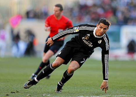 Cristiano Ronaldo vauhdissa.