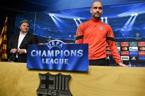 Pep Guardiola palaa Bayernin valmentajana Camp Noulle.