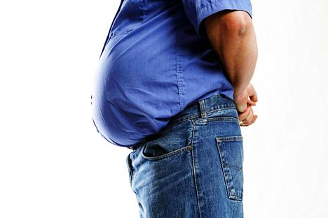 Vyötärölihavuudessa rasva kerääntyy vyötärölle pallomaiseksi ja pinkeäksi vatsaksi.