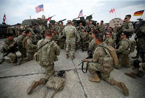 Yhdysvaltain sotilaat kokoontuivat Vazianin tukikohtaan edellisen kerran vuosi sitten.