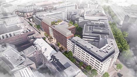 Kiinteistösijoitusyhtiö Onvest on alustavasti hahmotellut Kuortaneenkatu 4:ään uutta toimistotaloa.