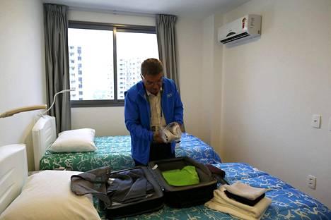 Kansainvälisen olympiakomitean puheenjohtaja Thomas Bach majoittui viikonloppuna Rion olympiakylään.