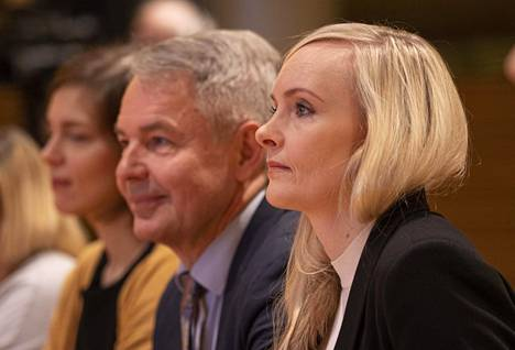 Maria Ohisalo ja Pekka Haavisto olivat helmikuussa Helsingissä, kun vihreiden puoluevaltuuskunta kokoontui.
