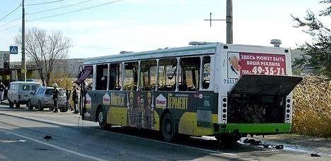 Venäläisen uutiskanava RT:n mukaan bussissa oli räjähdyshetkellä 40 matkustajaa.