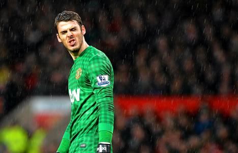 Manchester Unitedin maalivahti David de Gea joutui antautumaan kolmesti ottelussa Newcastlea vastaan.