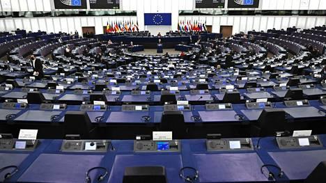 Euroopan parlamentin istunto Strasbourgissa Ranskassa keskiviikkona.